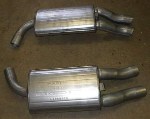 Both Rear Mufflers 1985-1990 Chevy Chevrolet Corvette