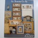 "Cross Stitching Leaflet - ""As Seasons Go By""(1987)  - Homespun Elegance"
