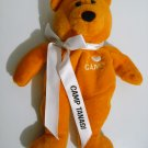 "Girl Scout ""I ♥ Camp"" Orange Bear Camp Tanasi 2001 *RARE*"