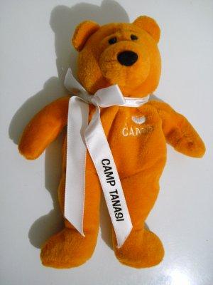 """Girl Scout """"I � Camp"""" Orange Bear Camp Tanasi 2001 *RARE*"""
