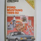 Chilton 1989-1992 Ford Mustang - Repair and Tune-up Guide
