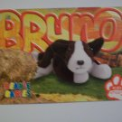 TY Beanie Baby Card # 66 Bruno the Dog - Style # 4183