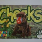 TY Beanie Baby Card # 71 Cheeks the Baboon - Style # 4250