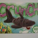 TY Beanie Baby Card # 76 Crunch the Shark - Style # 4130