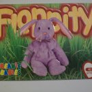 TY Beanie Baby Card # 87 Floppity the Lilac Bunny - Style # 4118