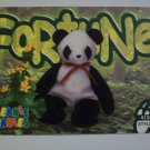 TY Beanie Baby Card # 88 Fortune the Panda - Style # 4196