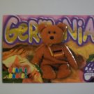 TY Beanie Baby Card # 90 Germania the Bear - Style # 4236