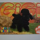 TY Beanie Baby Card # 91 Gigi the Poodle - Style # 4191