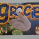 TY Beanie Baby Card # 92 Gracie the Swan - Style # 4126