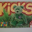 TY Beanie Baby Card # 99 Kicks the Soccer Bear - Style # 4229