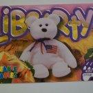 TY Beanie Baby Card # 102 Libearty the Bear - Style # 4057
