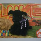TY Beanie Baby Card # 105 Luke the Black Labrador Retriever - Style # 4214