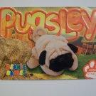 TY Beanie Baby Card # 120 Pugsley the Pug Dog - Style # 4106