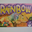 TY Beanie Baby Card # 123 Rainbow the TY-Dye Chameleon With Hood & Tongue - Style #4037