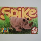 TY Beanie Baby Card # 139 Spike the Rhinoceros - Style # 4060