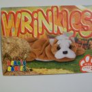 TY Beanie Baby Card # 157 Wrinkles the Bulldog - Style # 4103