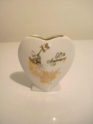 50th Wedding Anniversary Mini Vase