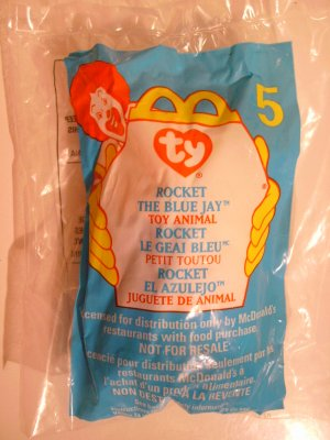 "McDonald's TY Beanie #5 ""Rocket The Blue Jay"" 1999"