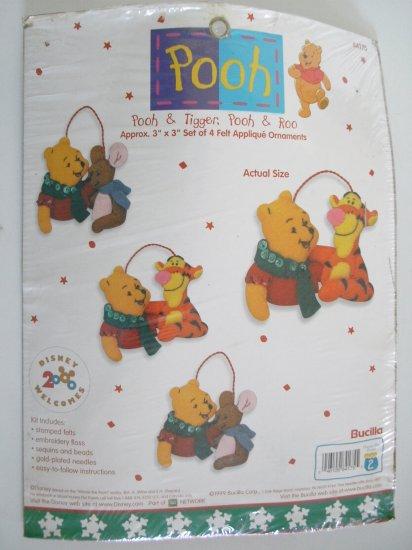 4 Applique Ornaments - Pooh & Tigger - Pooh & Roo