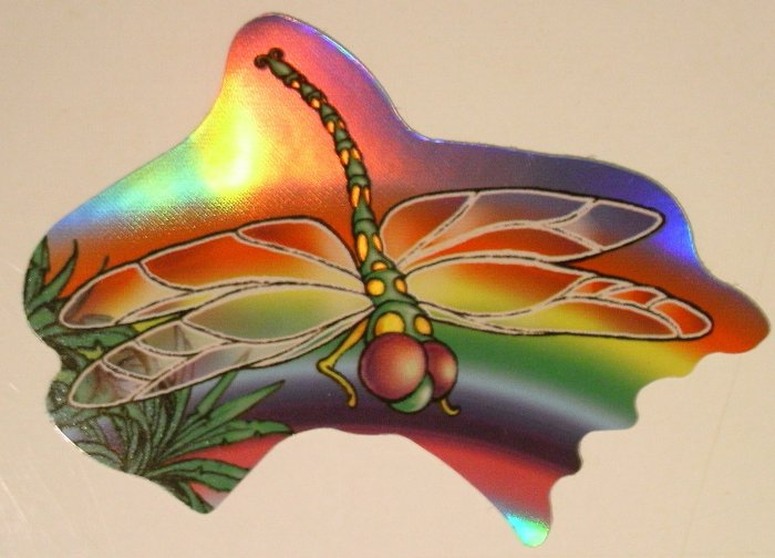 Colorful Dragonfly Sticker