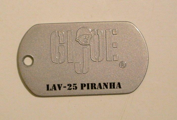GI Joe Collectible Metal Dog Tag - LAV-25 PIRANHA