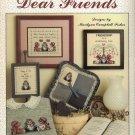 """""""Dear Friends""""  Leisure Arts Cross Stitch Leaflet"""