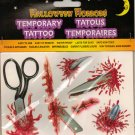 Halloween Gruesome Horror Temporary Tattoo's
