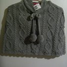 Adorable Gray Pullover Shawl - Size 7 - *NWT*