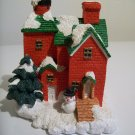 Ceramic  House With Snowman - Christmas Decor