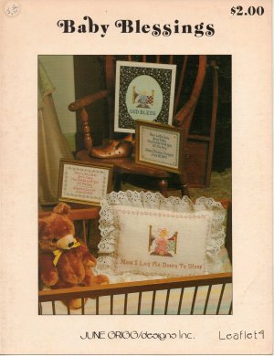 "VTG ""Baby Blessings"" By June Grigg Counted Cross Stitch Leaflet"