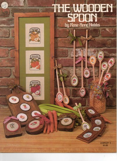 """""""The Wooden Spoon"""" By Rose Anne Hobbs Counted Cross Stitch Leaflet"""