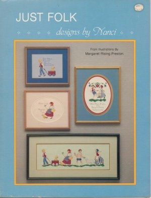 """Just Folk"" By Nanci - Counted Cross Stitch Leaflet"