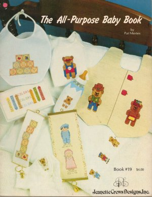 """The All-Purpose Baby Book"" By Pat Mertes - Counted Cross Stitch Book"