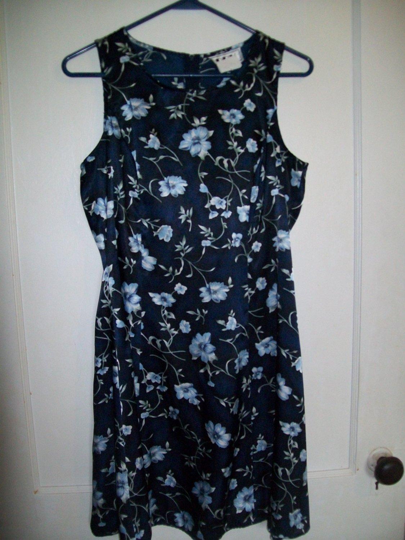 DBY Dark Blue Sleeveless Flower Dress - Size 9/10 Juniors