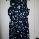 DBY Dark Blue Sleeveless Flower Dress - Size 9/10 Juniors
