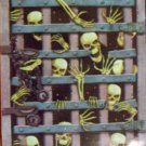 "42"" X 72"" Skeleton Breaking Thru Iron Gate Mural - *NIP* - Halloween Prop/Decoration"