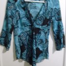 By Choice - Tea/Black See Thru Blouse -Size M -  Very Lovely!!