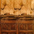 "42"" X 72"" Creepy Old House With Spiders Mural - *NIP* - Halloween Decor"