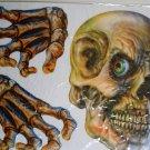 Halloween Window Cling (3 Piece) - Skull & Hands - NEW