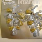 "Glitter Accented Silver/Gold 5"" Mistletoe - Christmas Ornament - NEW"