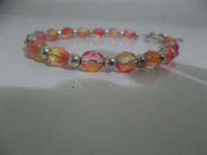 "Beautiful Multi-color 4MM  Beaded 8"" Bracelet"