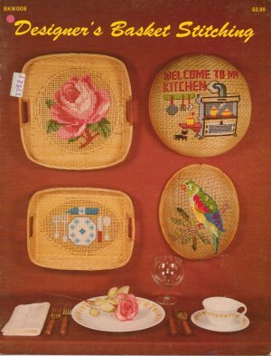 """""""Designer's Basket Stitching"""" - Counted Cross Sitich leaflet"""