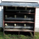 "Huge 78""x69""x69"" Breeding Rabbit Hutch With 9 Separate Cages - Made Of Steel"