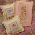 "Silver Thread ""A Pink Parfait"" Counted Cross Stitch Leaflet"
