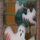 "42"" x 72"" Ghost In Graveyard Mural - Halloween Prop/Decor - *NIP*"