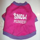 "Holiday Pet Tee - ""Snow Princess"" Pink & Purple Tee - Size X-Small - NEW"