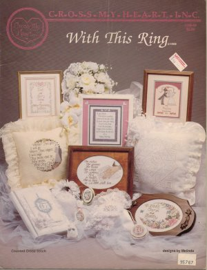 "Cross My Heart's ""With This Ring"" - Wedding Counted Cross Stitch Leaflet - 1989"