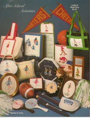 After School Activities - Counted Cross Stitch Leaflet