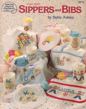 Sippers & Bibs - By American School Of Needlework - Counted Cross Stitch Book