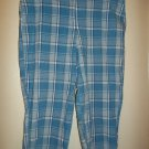 I. L. U. - Blue Checkered Capri - Size Juniors 9